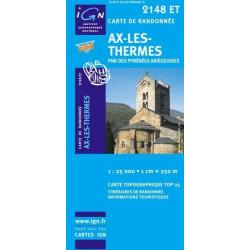 Achat Carte randonnées IGN Ax Les Thermes - PNR des Pyrénées Ariégeoises - 2148 ET