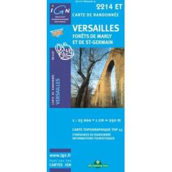 Achat Carte randonnées IGN Versailles - Forêts de Marly et de St Germain - 2214 ET