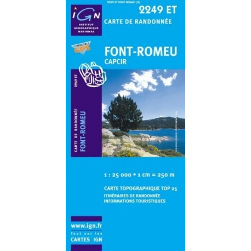 Achat Carte randonnées IGN Font Romeu - Capcir - 2249 ET