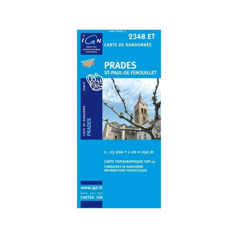 Achat Carte randonnées IGN Prades - St Paul de Fenouillet - 2348 ET