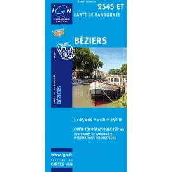 Achat Carte randonnées IGN Béziers - 2545 ET