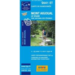 Achat Carte randonnées IGN Mont Aigoual - Parc des Cévennes - Le Vigan - 2641 ET