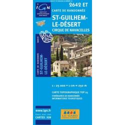 Achat Carte randonnées IGN St Guilhem Le Désert - Cirque de Navacelles - 2642 ET