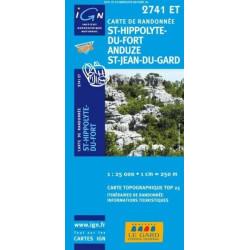 Achat Carte randonnées IGN St Hippolyte Du Fort, Anduze St Jean Du Gard - 2741 ET