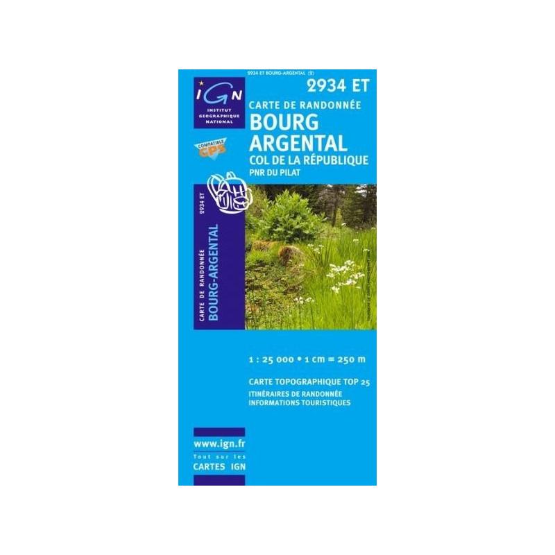 Achat Carte randonnées IGN Bourg Argental - Col de la République - 2934 ET