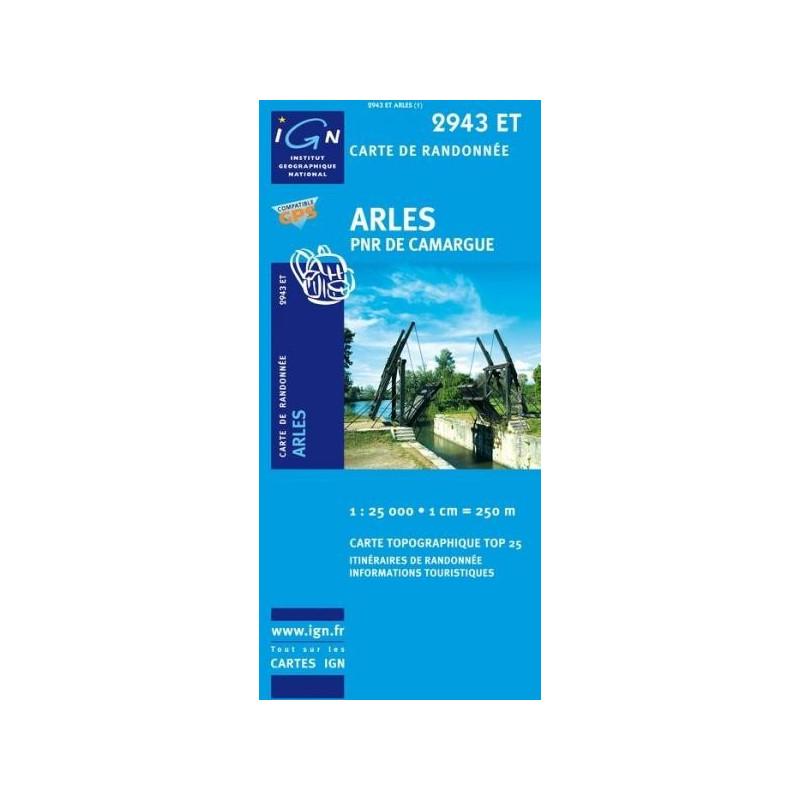 AchatCarte randonnées IGN Arles - PNR de Camargue - 2943 ET