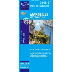 Achat Carte randonnées IGN Marseille - Les Calanques - 3145 ET