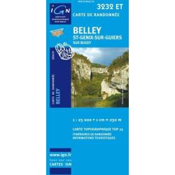 Achat Carte randonnées IGN Belley - St Genix sur Guiers - 3232 ET