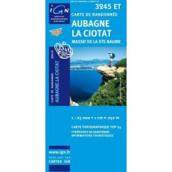 Achat Carte randonnées IGN Aubagne La Ciotat - Massif de la Ste Baume - 3245 ET