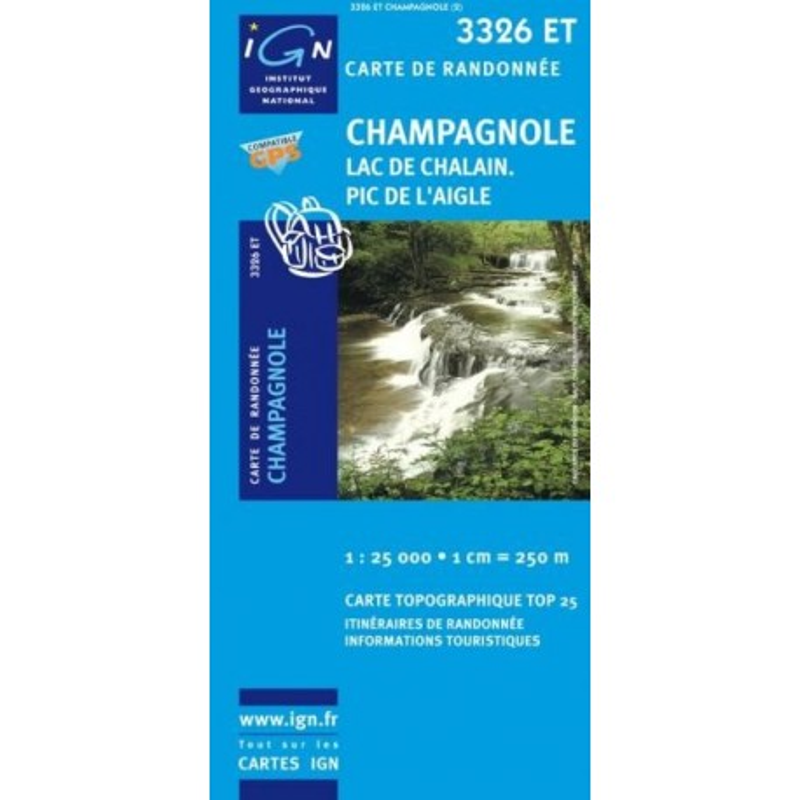 Achat Carte randonnées IGN Champagnole - Lac de Chalain Pic de l'Aigle - 3326 ET