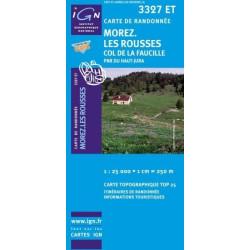Achat Carte randonnées IGN Morez Les Rousses - Col de la Faucille - 3327 ET