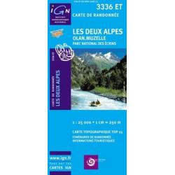 Achat Carte randonnées IGN Les Deux Alpes - Olan Muzelle - 3336 ET