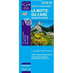 Achat Carte randonnées IGN La Motte Du Caire - Vallée du Sasse - 3339 ET