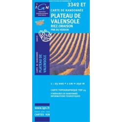 Achat Carte randonnées IGN Plateau De Valensole - Riez Oraison - 3342 ET