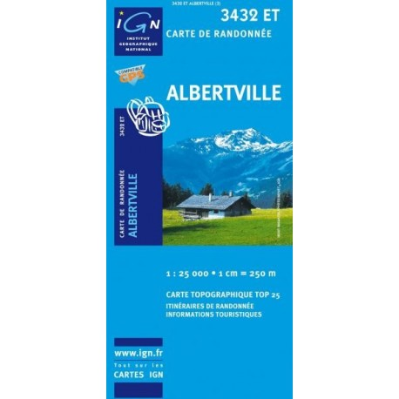 Achat Carte randonnées IGN Albertville - 3432 ET