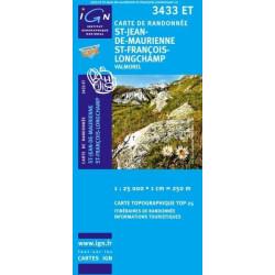 Achat Carte randonnées IGN - 3433 ET - St Jean De Maurienne St Francois Longchamp - Valmorel