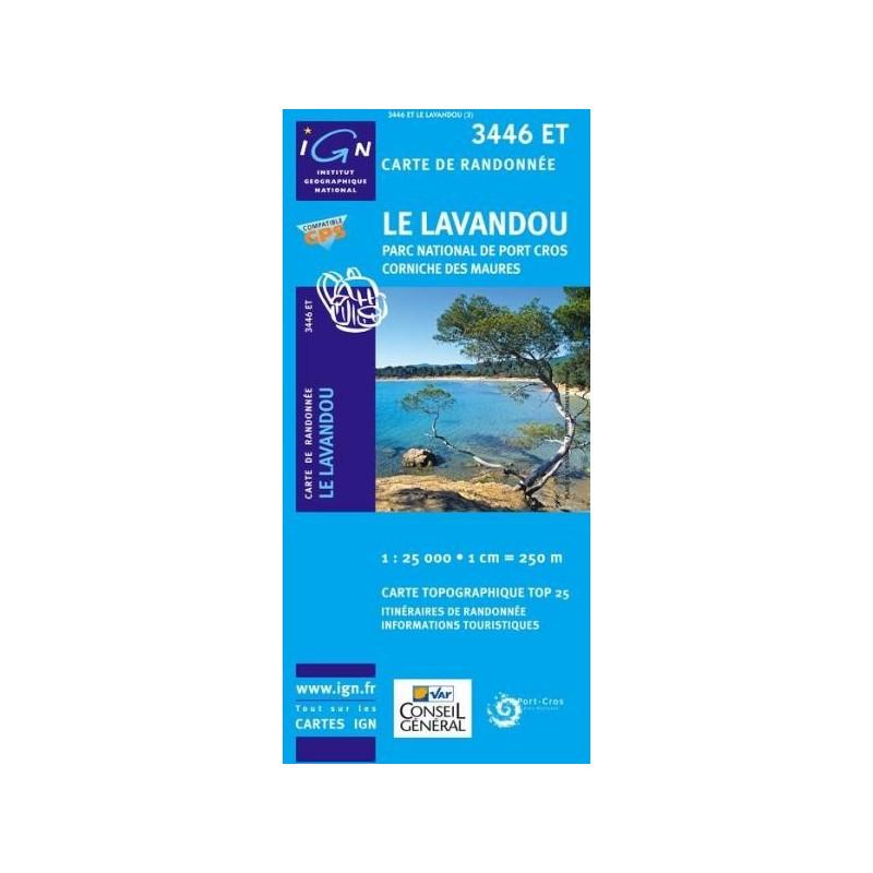 Achat Carte randonnées IGN Le Lavandou - Parc National de Port Cros Corniche des Maures - 3446 ET