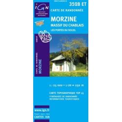 Achat Carte randonnées IGN Morzine - Massif du Chablais - 3528 ET