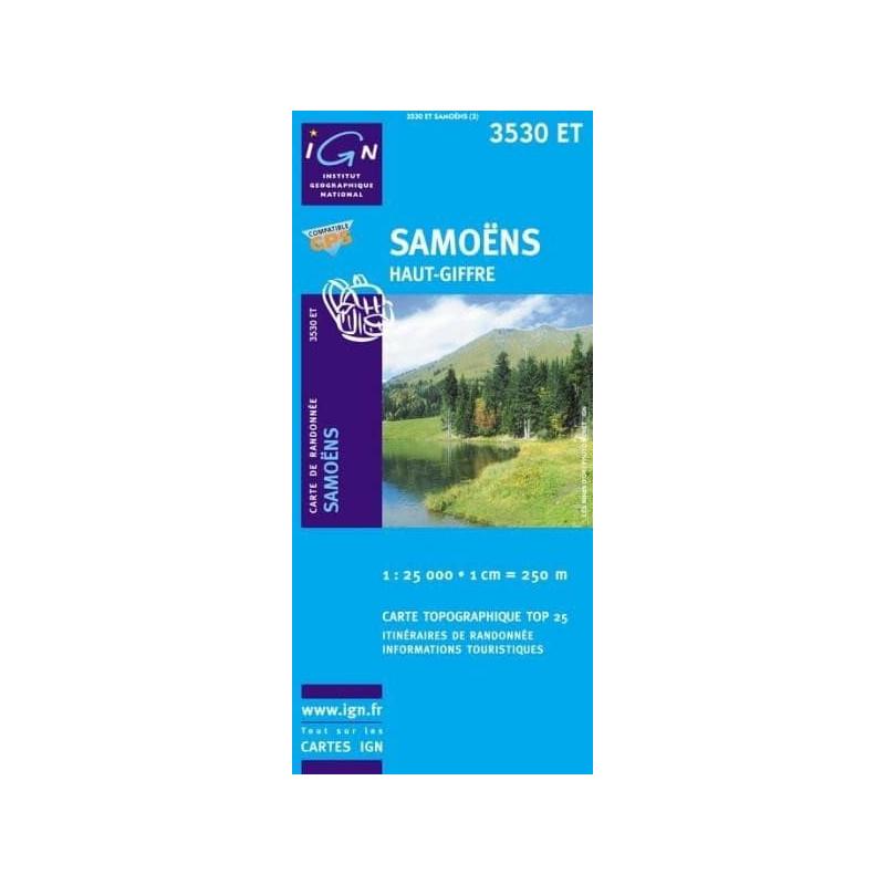 Achat Carte randonnées IGN Samoëns - Haut Giffre - 3530 ET