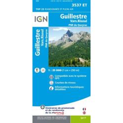 Achat Carte randonnées IGN Guillestre - Vars Risoul - 3537 ET