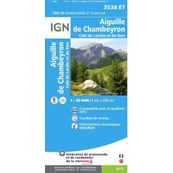 Achat Carte randonnées IGN Aiguille De Chambeyron - Cols de Larche et de Vars - 3538 ET
