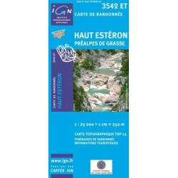 Achat Carte randonnées IGN Haut Estéron - Préalpes de Grasse - 3542 ET