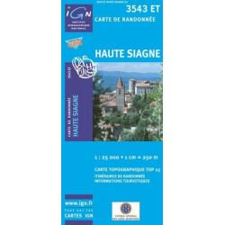 Achat Carte randonnées IGN Haute Siagne - 3543 ET