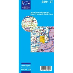 Achat Carte randonnées IGN Altkirch - Sundgau - 3621 ET
