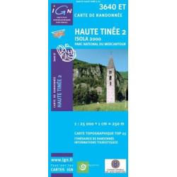 Achat Carte randonnées IGN Haute Tinée2 - Isola 2000 - 3640 ET