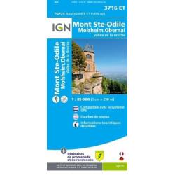 Achat Carte randonnées IGN Mont Ste Odile - Molsheim Obernai - 3716 ET