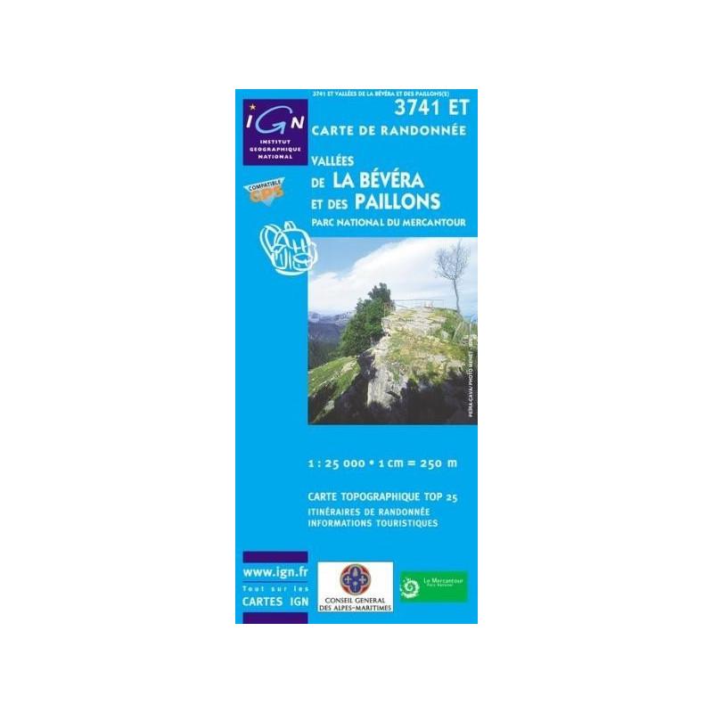 Achat Carte randonnées IGN Vallées De La Bévéra Et Des Paillons -  Parc National du Mercantour - 3741 ET