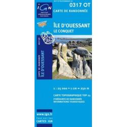 Achat Carte randonnées IGN Île d'Ouessant - Le Conquet - 0317 OT