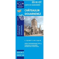 Achat Carte randonnées IGN Châteaulin Douarnenez - 0518 OT