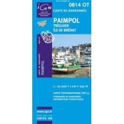 Achat Carte randonnées IGN Paimpol - Tréguier île de Bréhat - 0814 OT