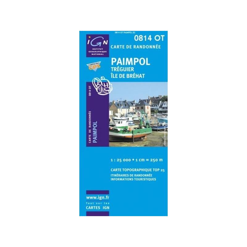 Achat Carte Randonnées Ign Paimpol Tréguier île De Bréhat 0814 Ot