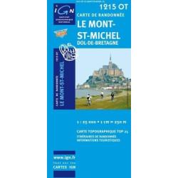 Achat Carte randonnées IGN - 1215 OT - Le Mont St Michel - Dol de Bretagne