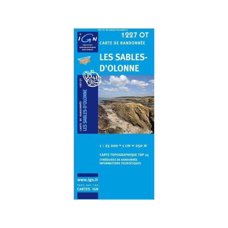 Achat Carte randonnées IGN - 1227 OT - Les Sables d'Olonne