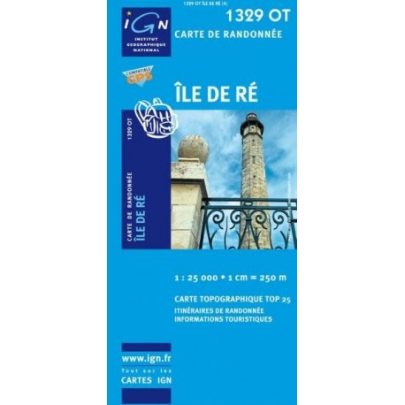 Achat Carte randonnées IGN - 1329 OT - Île De Ré