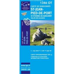 Achat Carte randonnées IGN - 1346 OT - St Jean Pied De Port - St Etienne de Baïgorry Vallée des Aldudes