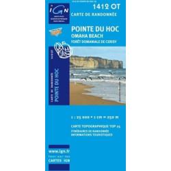 Achat Carte randonnées IGN - 1412 OT - Pointe Du Hoc - Omaha Beach