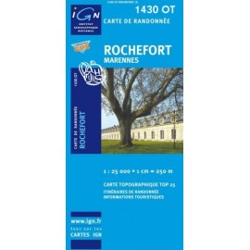 Achat Carte randonnées IGN - 1430 OT - Rochefort - Marennes
