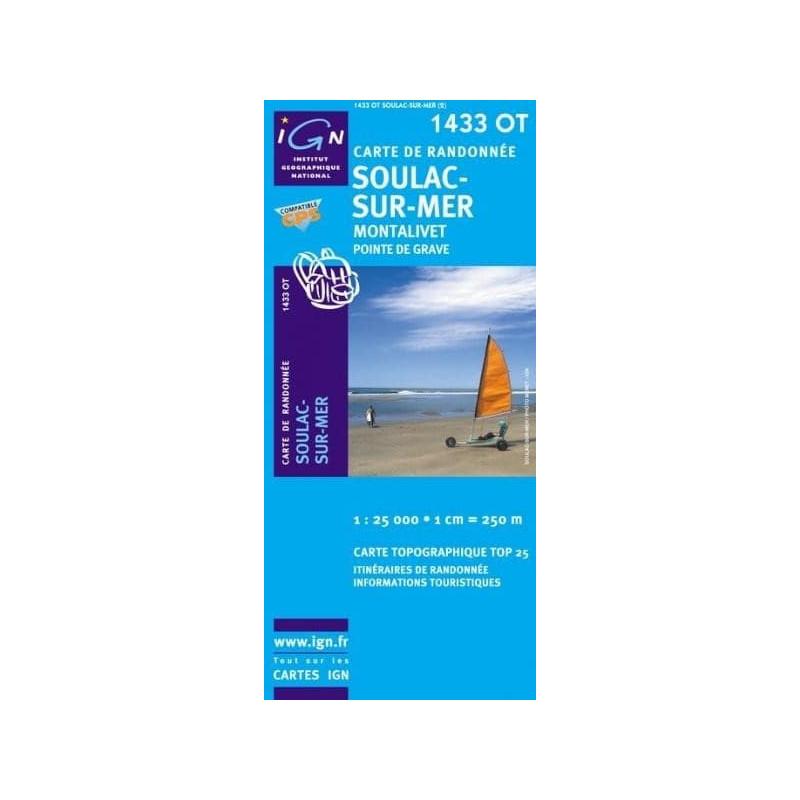 Achat Carte randonnées IGN - 1433 OT - Soulac Sur Mer - Montalivet