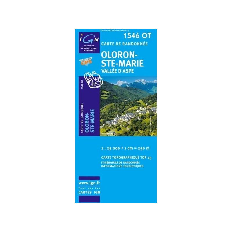Achat Carte randonnées IGN - 1546 OT - Oloron Ste Marie - Vallée d'Aspe