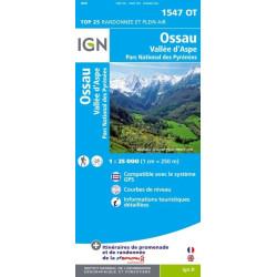 Achat Carte randonnées IGN - Ossau - Vallée d'Aspe - 1547 OT
