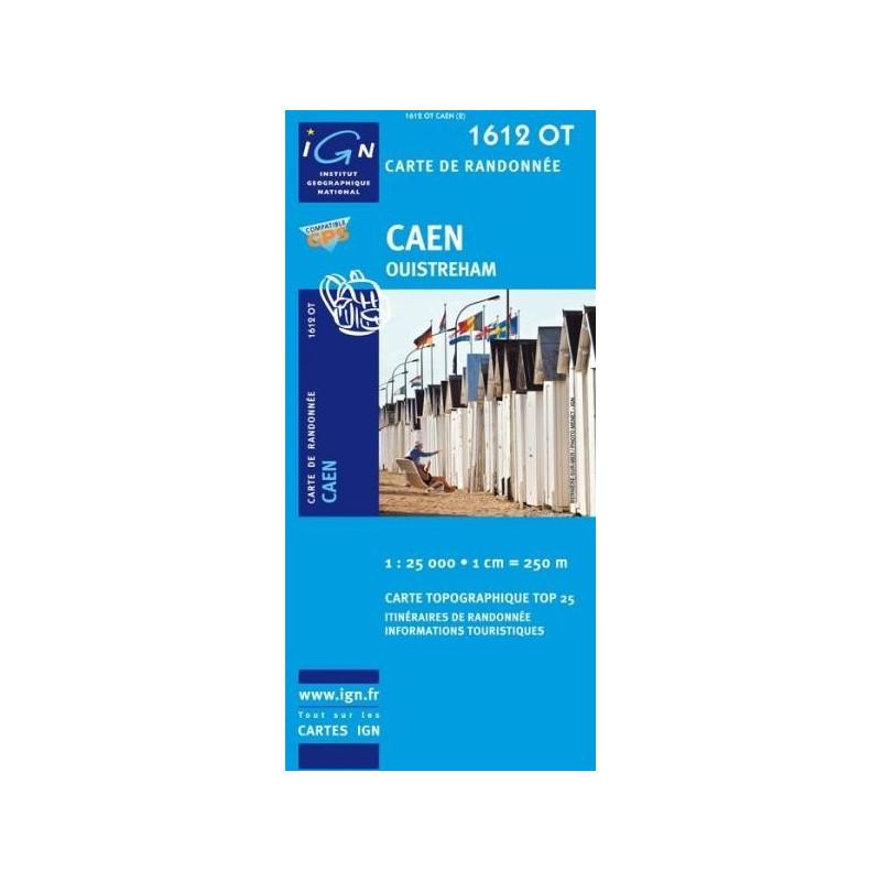 Achat Carte randonnées IGN - 1612 OT - Caen - Ouistreham
