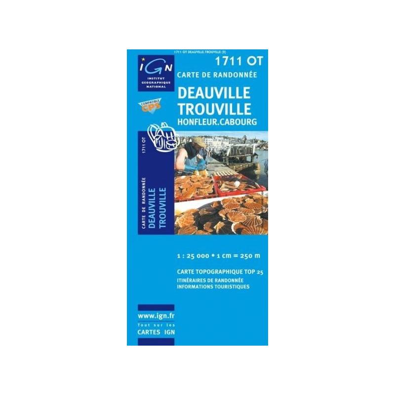 Achat Carte randonnées IGN - 1711 OT - Deauville Trouville - Honfleur Cabourg