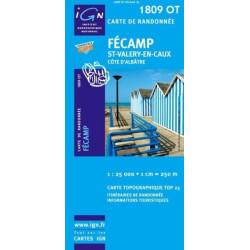 Achat Carte randonnées IGN - 1809 OT - Fécamp - St Valery en Caux