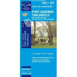 Achat Carte randonnées IGN - 1811 OT - Pont Audemer Tancarville  - Parc naturel régional des Boucles de la Seine Normande