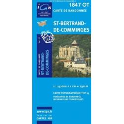 Achat Carte randonnées IGN - 1847 OT - St Bertrand De Comminges