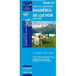 Achat Carte randonnées IGN - 1848 OT - Bagnères De Luchon - Lac d'Oô